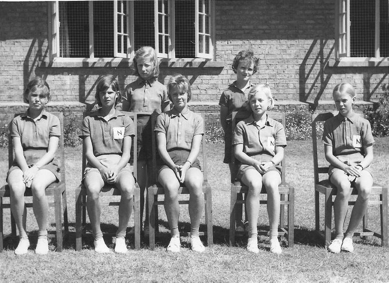 Back Row: Suzanne Gibbs, Kathleen Ellson Front Row: Felicity Walker, Frances Bevan, Geraldine Archer, Mary Robinson, Gillian Fazan